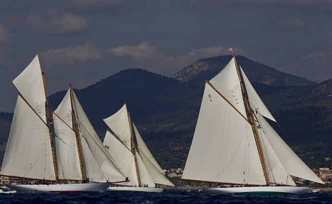 Les Voiles de Saint-Tropez Fleet - Photo Credit Rolex Carlo Borlenghi