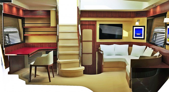 Magellano 50 Lower Deck Interior  - Credit Azimut Yachts