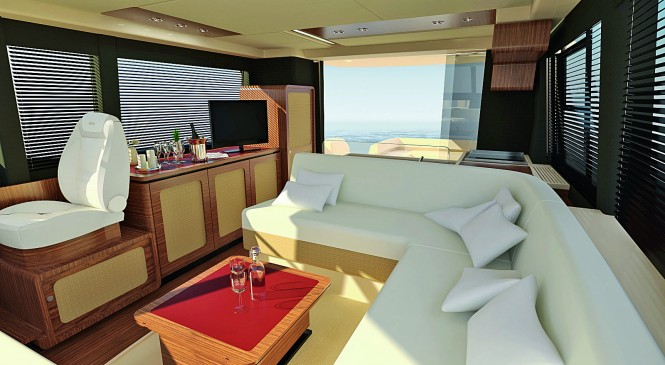 Magellano 50 main deck Interior - Credit Azimut Yachts