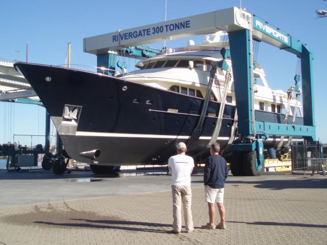 Motor yacht KOKOMO II refitted at Rivergate Marina, Australia