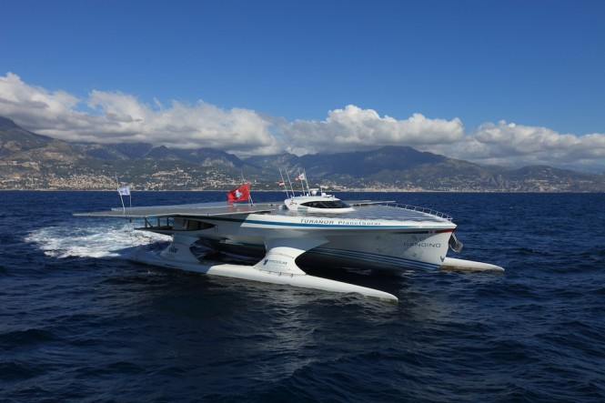 T 219 Ranor Planetsolar Catamaran Reaches The Canary Islands