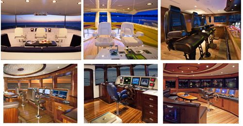 New yachts at FLIBS 2010 with STIDD ergonomic seats