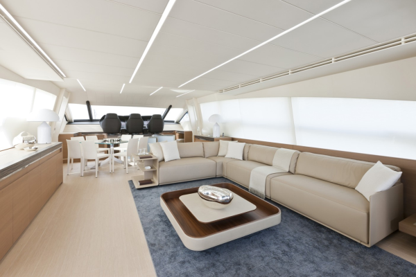 Pershing 92ft motor yacht interior - Credit Pershing Yachts