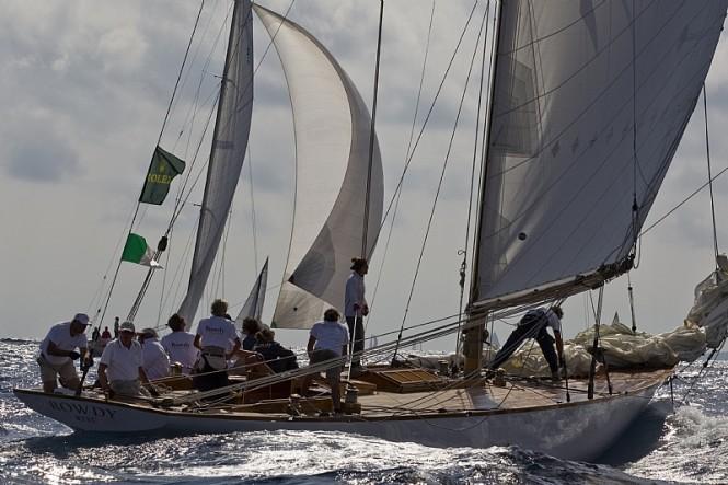 Sailing yacht ROWDY - SLOOP AURIQUE - Photo Credit Rolex Carlo Borlenghi