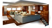 Salon of the 30m Super Catamaran Q5 (Quintessential 5) by Yachting Developments