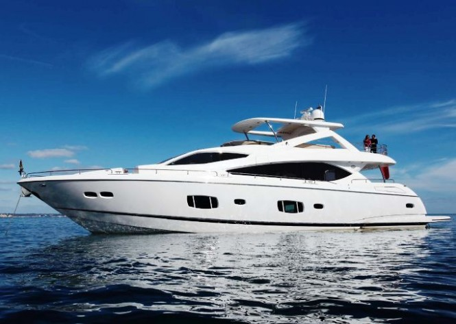 Sunseeker 88 Motor yacht - Credit Sunseeker