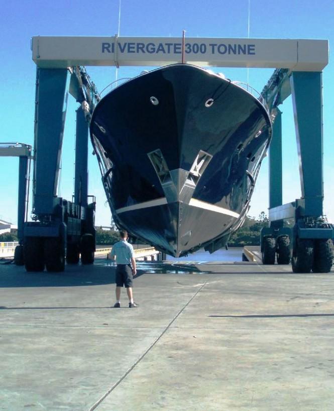 Superyacht KOKOMO II at Rivergate Marina