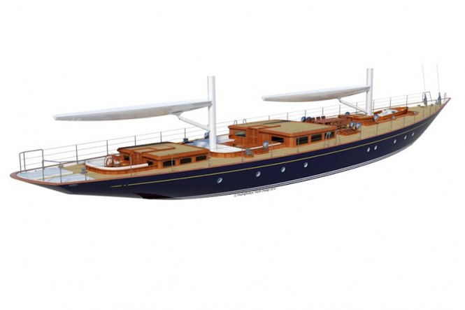 Tempus 150 Ketch Humphreys Yacht Design and Arkin Pruva Yachts