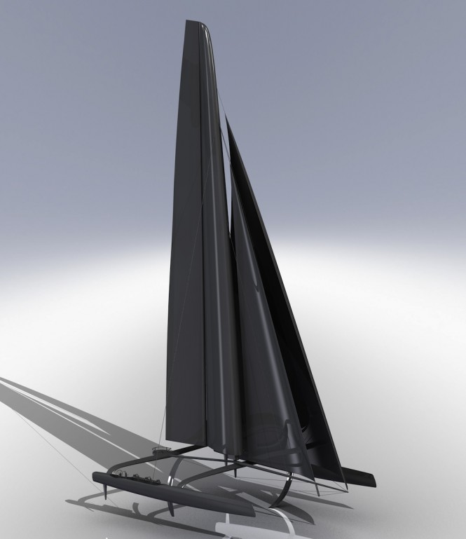 The new Wingsailed 72ft catamaran will transform America's Cup racing - Credit Americas Cup