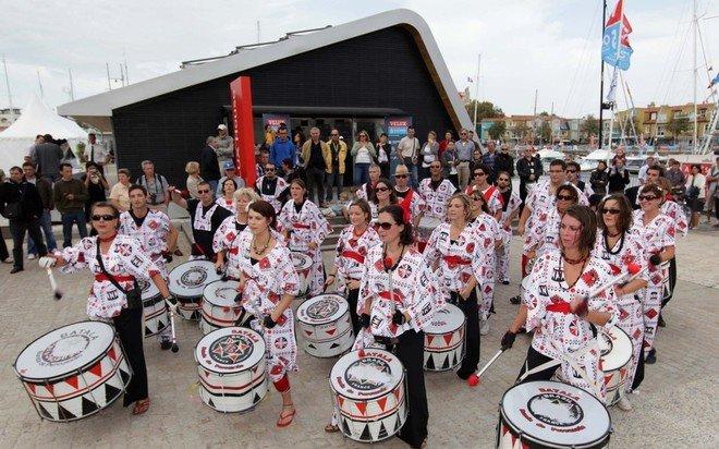 The opening ceremony was followed by a performance of Batala music, a style of Brazilian Samba which originates from Salvador, one if the host ports of the Velux 5 Oceans Race 2010. - Credit Velux 5 Oceans
