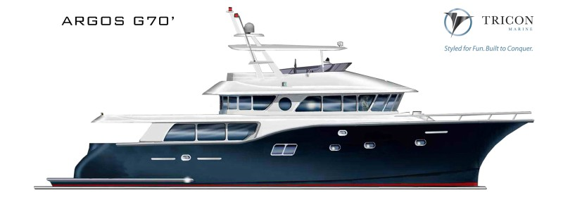 Tricon Marine to build a new custom Argos Gulfstream 70 (G70) motor yacht