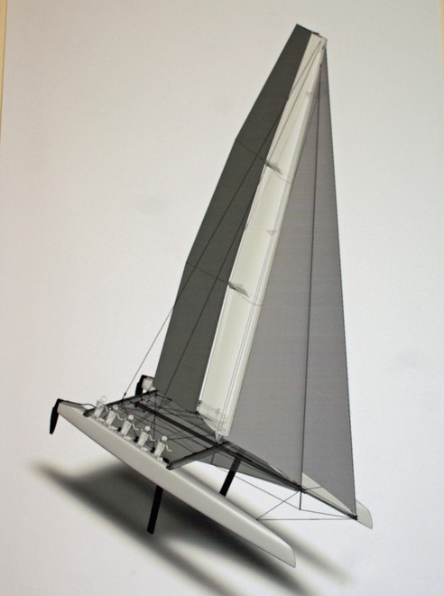 Updated graphic AC45 (the transom sections will detach just after of the after crossbeam)
