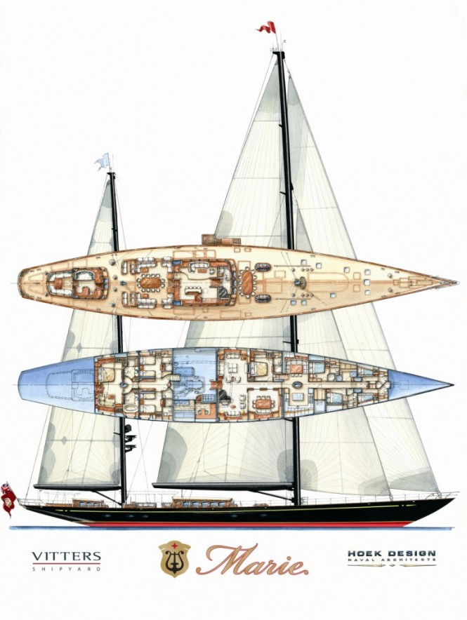 Vitters Sailing yacht Marie Layout