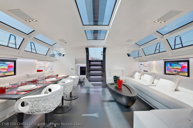 CNB 100 Sailing yacht Chrisco interior - Photo Credit Nicolas Claris