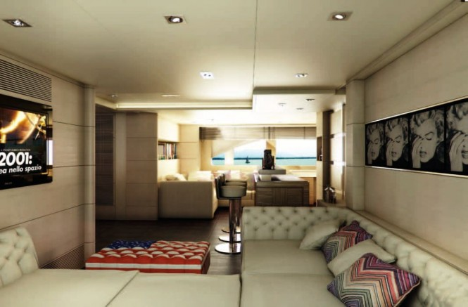 Charter Yacht Told U So by Moreli design - Sky Lounge