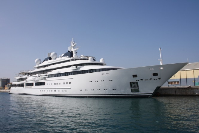 Lurssen Super Yacht Katara in Gibraltar - Photo credit to Gibeye