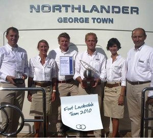 Moonen 124 motor yacht Northlander wins ISS best power award