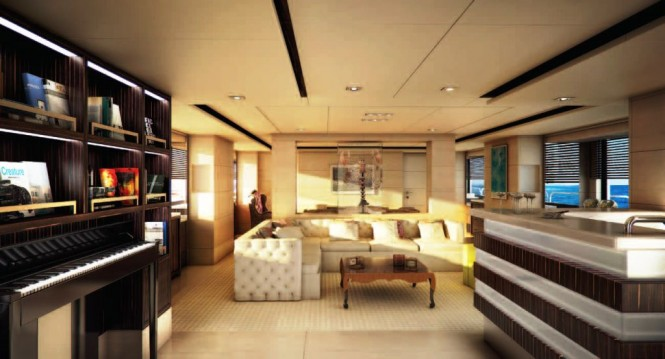 Motor yacht Told U So Main Salon