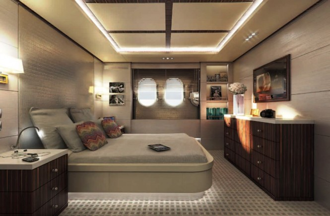 Motor yacht Told U So - VIP Guest Cabin, The Ebony Room, Starboard