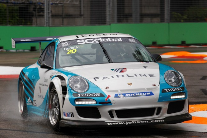 news porsche driver backed fairline takes podium position carrera cup asia