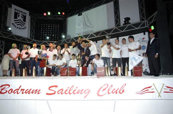 Prize giving at the 22nd Bodrum Cup International Wooden Yacht Regatta