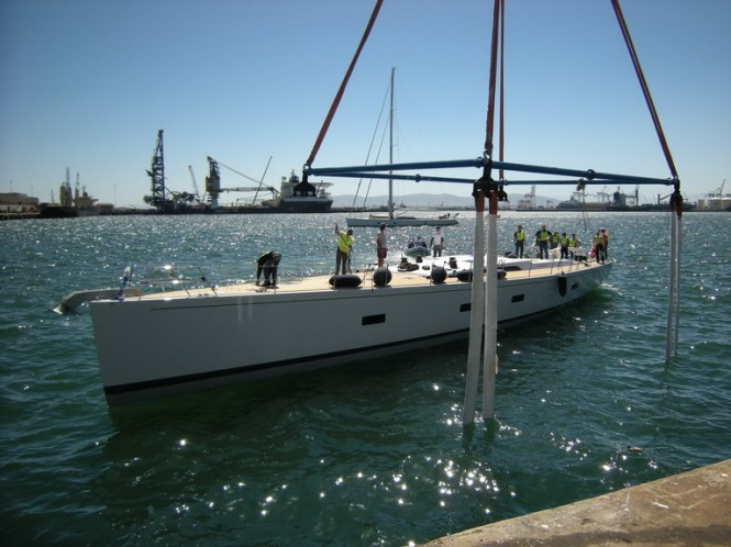 SW 94 Sailing Yacht Kiboko being launched - Credit Southern Wind