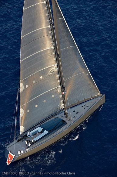 Sailing yacht Chrisco from above - Photo Credit Nicolas Claris