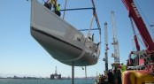 Southern Wind Sailing Yacht Kiboko being launched - Credit Southern Wind