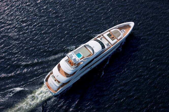 "The 44-m Heesen superyacht Jems takes the prize for ""Exterior Recreational Area"" - Photo Credit SuperYachtMedia"