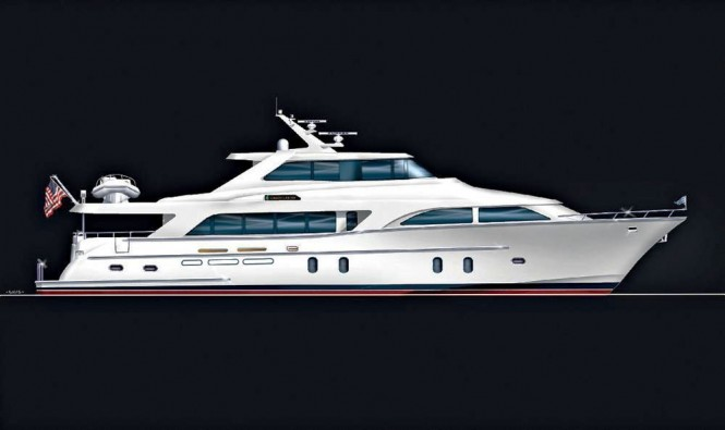 The Global 103s Pilothouse design by Cheoy Lee available in 2011