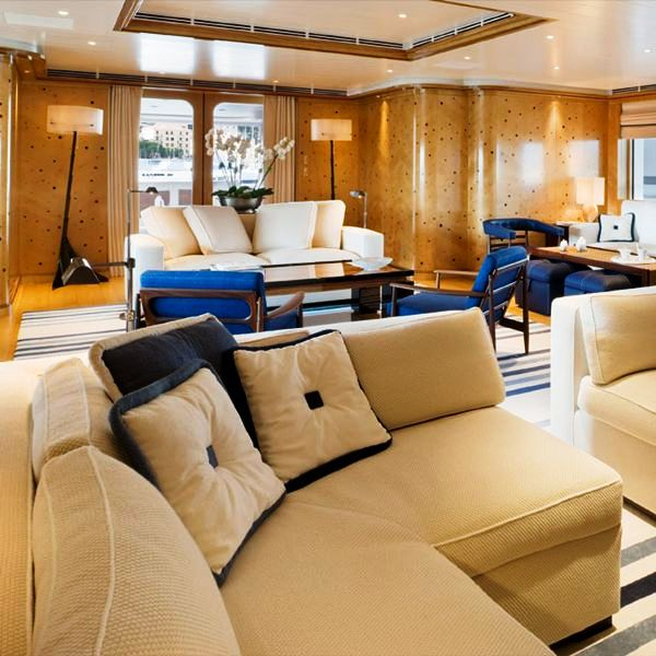 Yacht TV - The Main Saloon - Interior Design by Alberto Pinto