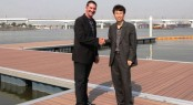 Yoeida Marina, Seoul, Korea - Superior Jetties&acirc; Managing Director John Hogan, and Korean licensee Mr HY Kim