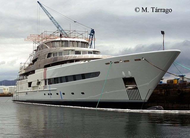 73.1m Expedition Superyacht PEGASO - The image of PEGASO is courtesy of Mr Miguel Tarrago.