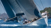 George David�s Rambler shows its winning ways at the 2010 Les Voiles de St. Barth. © Christophe Jouany