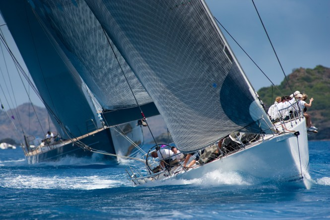 George David's Rambler shows its winning ways at the 2010 Les Voiles de St. Barth. © Christophe Jouany