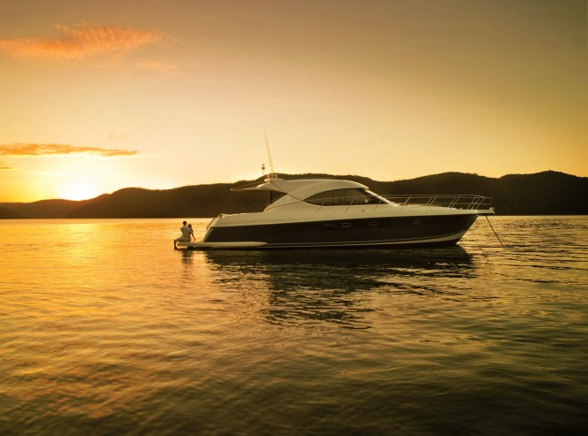 Riviera's ultimate entertaining vessel, the 5000 Sport Yacht, ...
