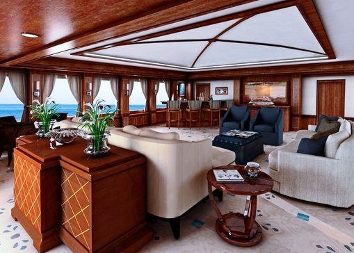 Newcastle 5500 motor yacht Skylounge