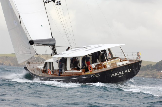 Pendennis 32 metre Barracuda Design sailing yacht Akalam  B105 project  at Sea Trials