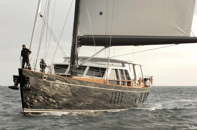 Pendennis sailing yacht Akalam - project B105 completes sea trials
