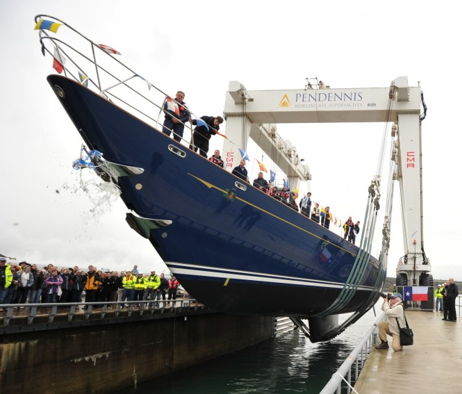 Sailing yacht Christopher launches at Pendennis
