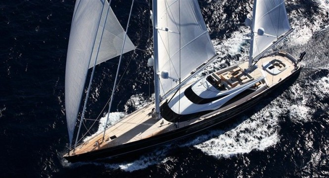 Sailing yacht Twizzle by Dubois Naval Architects, Royal Huisman Shipyard and Redman Whiteley Dixon.