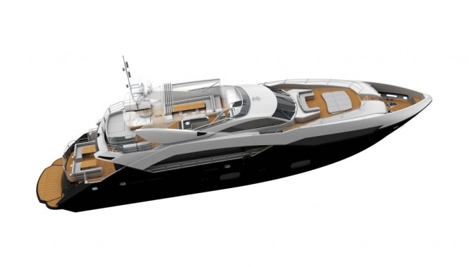 Sunseeker Predator 115 motor yacht. Retaining the aggressive lines and sharp ...