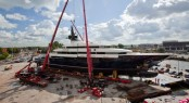 Superyacht Seven Seas when launched from the Oceanco Shipyard in August