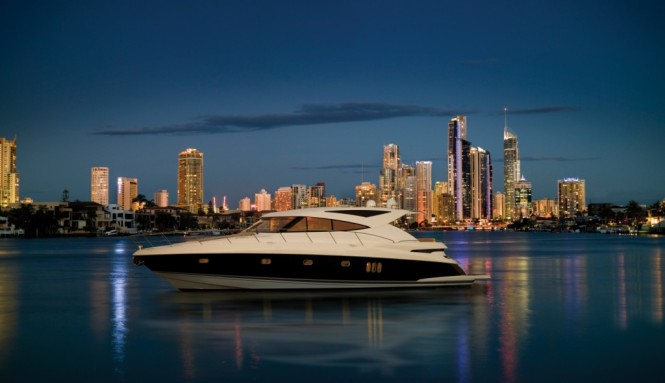 The 5800SY is a luxury boat beyond anything previously built by Riviera