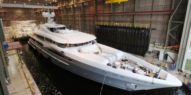 The AMELS 212 Superyacht launch - Photo by Amels & Dennis van Overbeeke