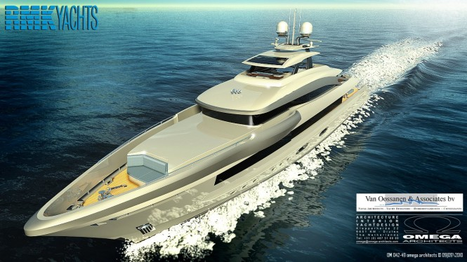 The Omega concept for RMK Yachts, featuring the FDHF hull form.