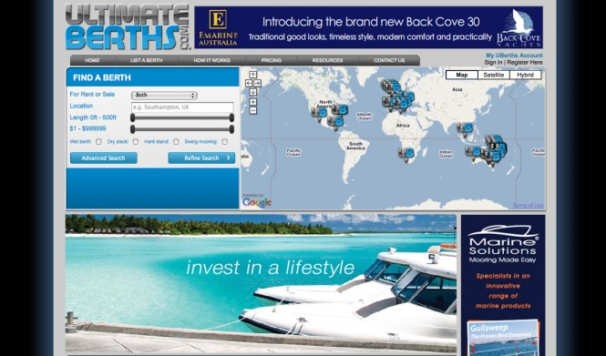 UltimateBerths.com has launched as the world's ultimate portal for connecting people who'd like to rent, buy or sell a marina berth or mooring