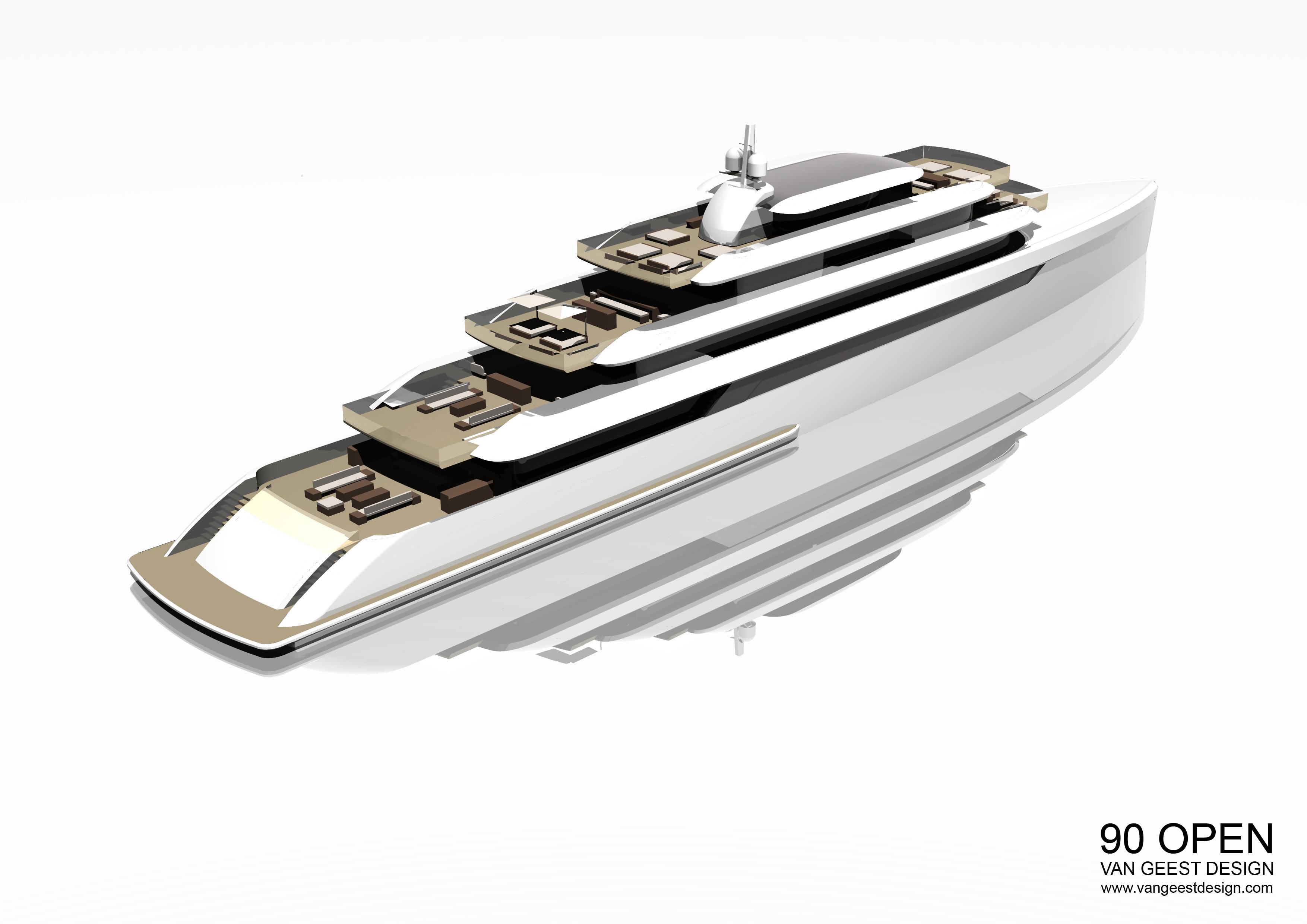 VGD 90M Open Yacht Concept by Van Geest Design — Yacht