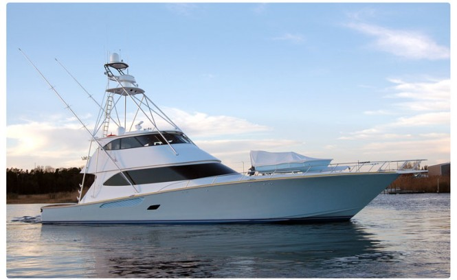 Viking 82 Enclosed Bridge Convertible - Credit Viking Yachts