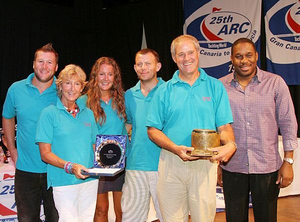 Yachting World Trophy was awarded to Alan Brook's Oyster 56 Sulana (GBR), ...